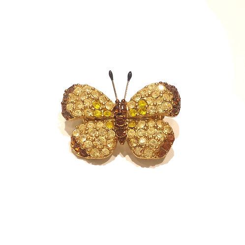 Καρφίτσα πεταλούδα κίτρινη
