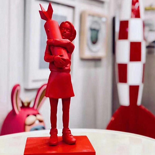 Bomb Hugger SPECIAL RED Statue