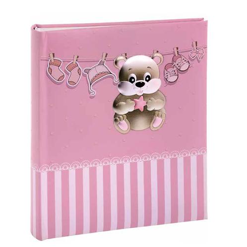 Παιδικό άλμπουμ με αρκουδάκι & ρουχαλάκια -ροζ