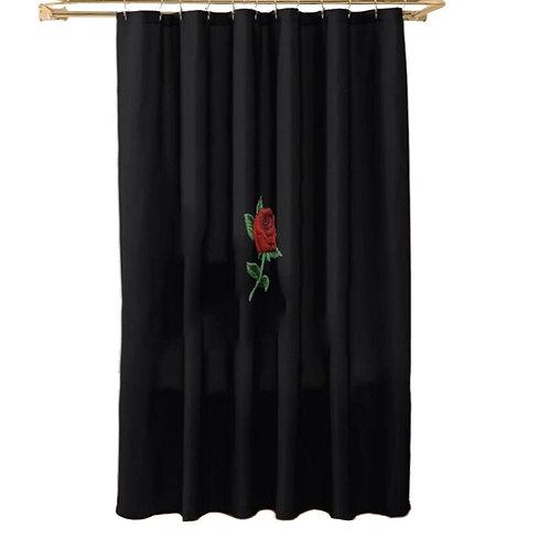 Concrete Rose Shower Curtain