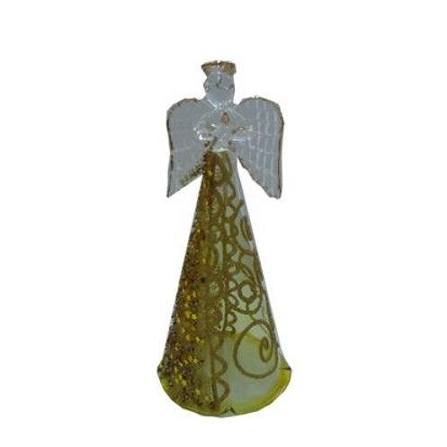 Αγγελάκι γυάλινο χρυσό 13 cm