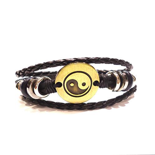 Βραχιόλι ανδρικό με το σύμβολο Yin Yang