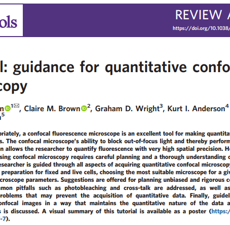 Tutorial: Guidance for Quantitative Confocal Microscopy