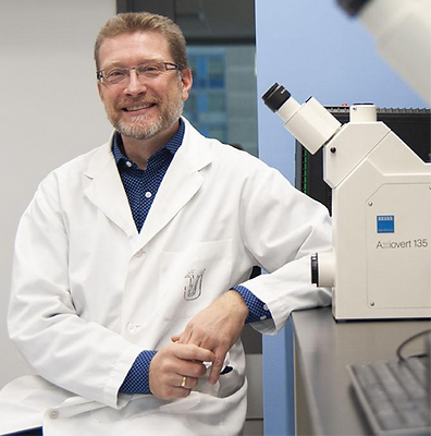Doctor Boris Hinz, a scientist and director of the imaging facility