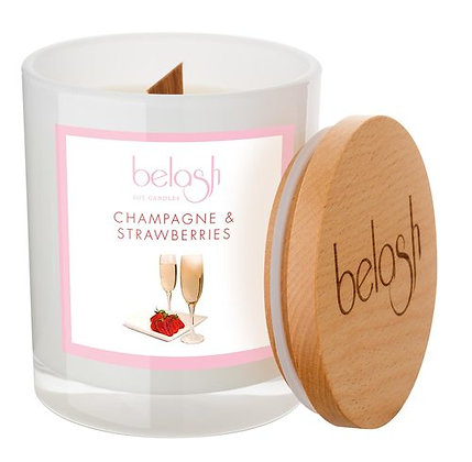 BELASH SOY CANDLE - CHAMPAGNE & STRAWBERRIES