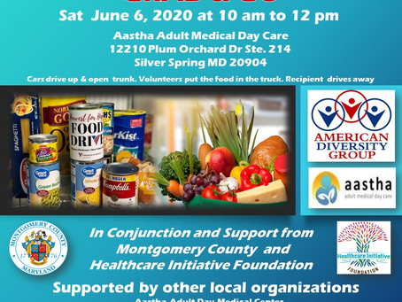 GRAB AND GO FOOD DISTRIBUTION IN SILVER SPRING