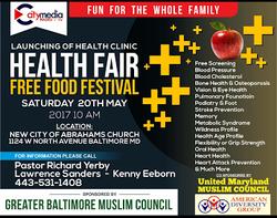 Health Fair 20th May 2017