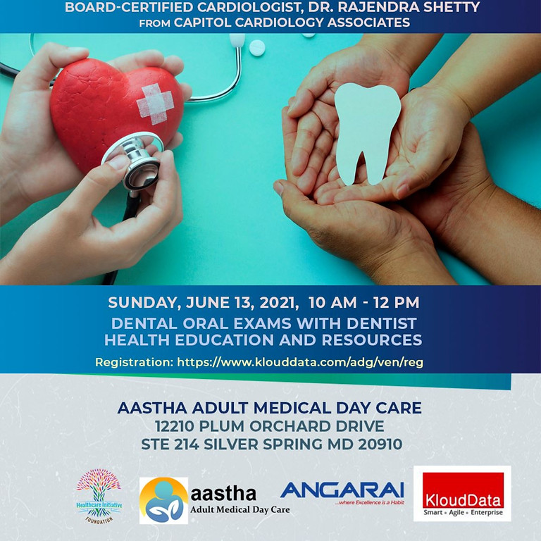 Cardiology and Dental Screenings on June 13th