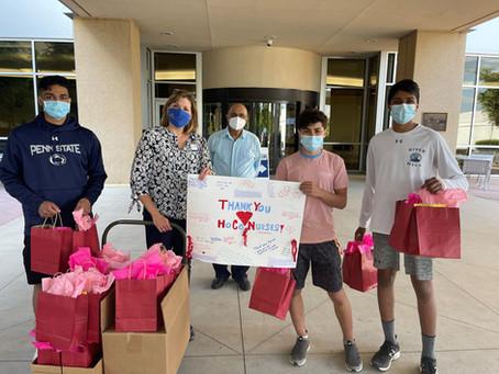 American Diversity Group Volunteer Providers kids  appreciating  the nurses at Howard County General
