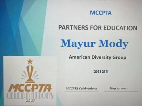 Partners for Education MCCPTA Celebrations