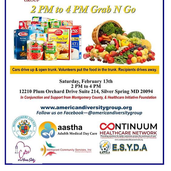 Free Food Distribution Grab N Go