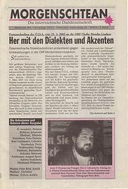 Morgenschtean U3/ 2003