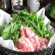 野菜と豚肉の葱盛り塩だし鍋