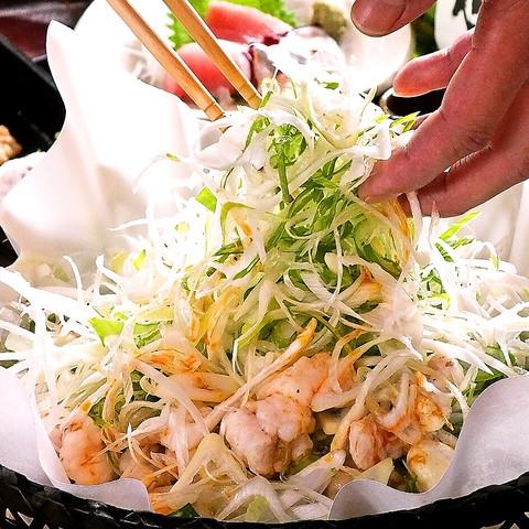 葱盛りとんこつもつ鍋