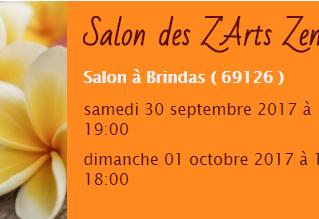 Deux jours de Salon et une Conférence 30 septembre - 1er octobre | Salon Zarts Zen | Brindas