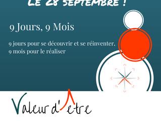 9 jours, 9 mois | Jour 1 le 28/09 à Lyon |  Programme est en ligne
