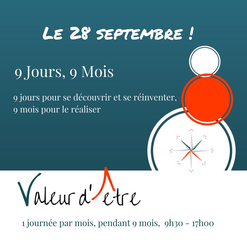 Le parcours 9 jours, 9 mois de Valeur d'être, Elisabeth Moulin