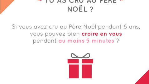 Tu as cru au Père Noël | Valeur d'être au Salon Profession'L | 26 septembre - Lyon
