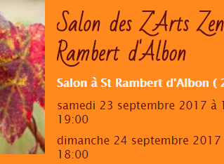Deux jours de Salon et une Conférence 23 et 24 septembre | Salon Zarts Zen | Saint Rambert d'Alb