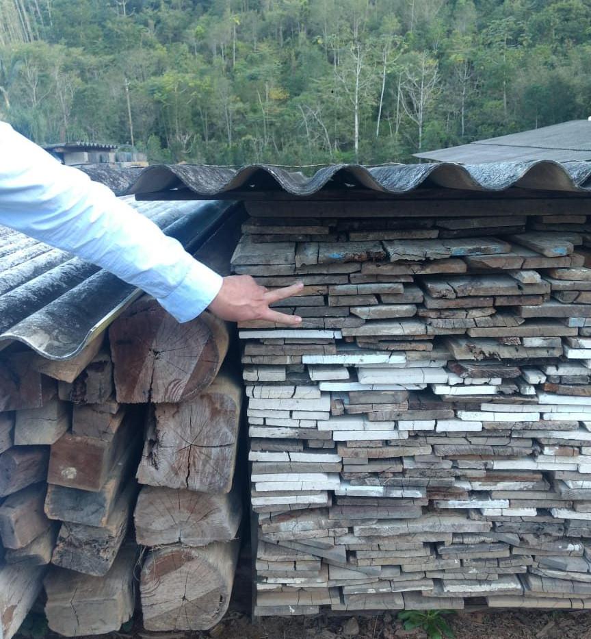 PGWood Reclaimed Hardwood Planks Stacked