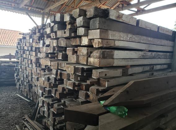 PGWood Reclaimed Hardwood Timbers Stacke