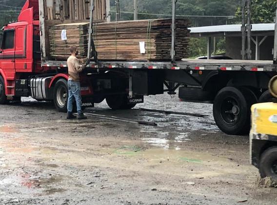 PGWood Reclaimed Hardwood Planks Loaded