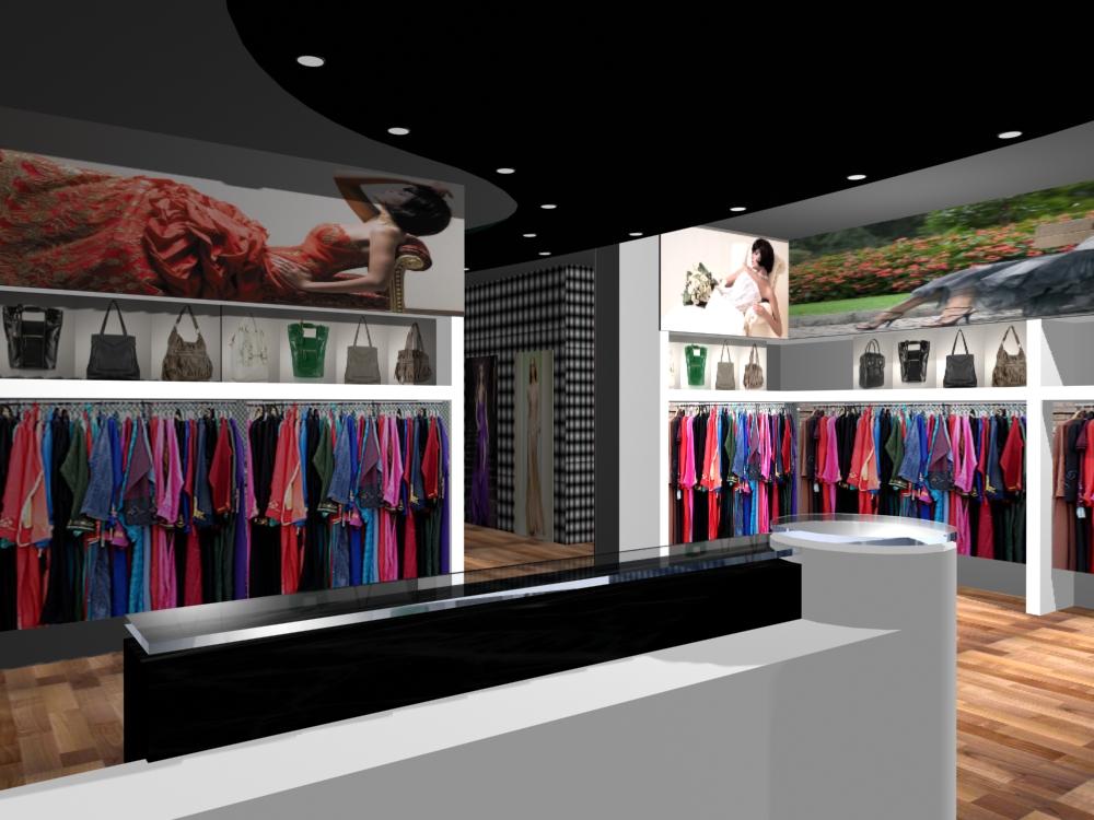 render 3D negozio abbigliamento