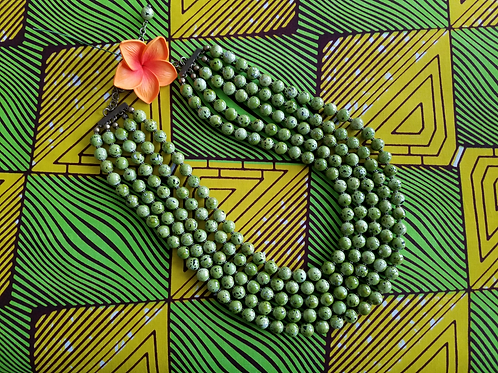 Olive Green Beaded Necklace