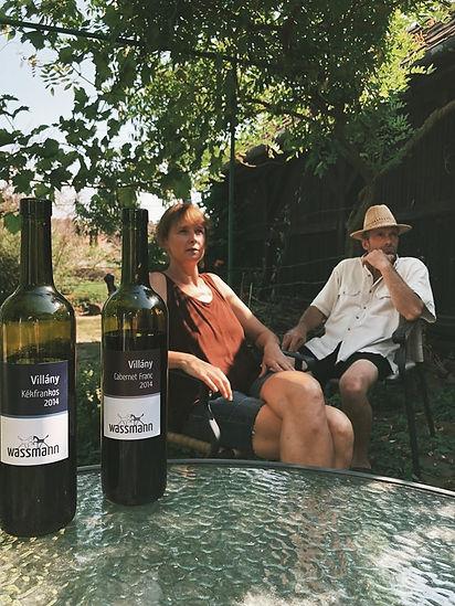 winetasting at WASSMANN biodynamic wines Villány