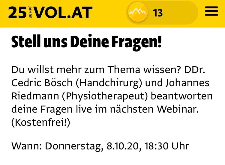Stellen Sie Ihre Fragen online an DDr. Bösch
