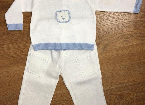 5549 Bimbalo White knit 2pc