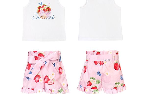 Balloon Chic Strawberry Short Set