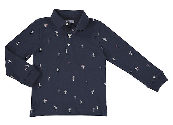 Mayoral Navy Polo Top 4158