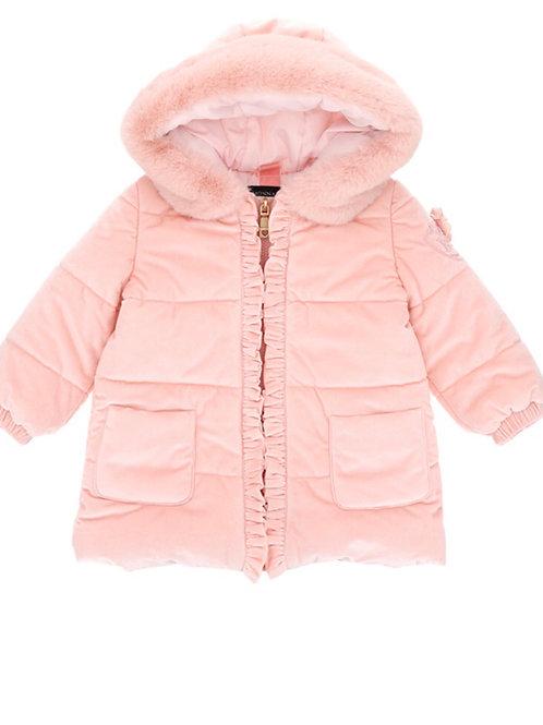 Monnalisa Bebe Velvet Coat