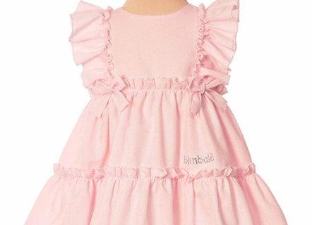 5605 Bimbalo Pink Frill Dress