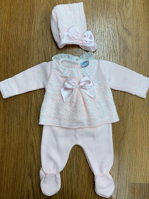 Sardon Pink Knit Set