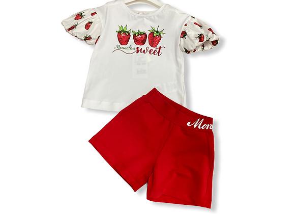 Monnalisa Strawberry Short Set