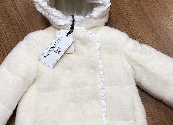 Monnalisa Cream Fur Jacket