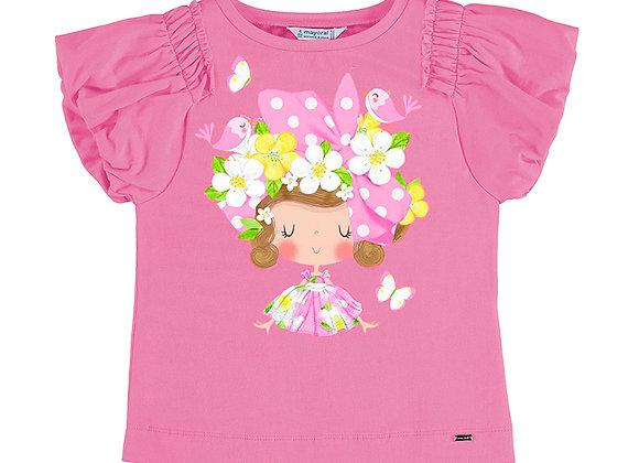 3002 Pink T-Shirt with Girl Motif