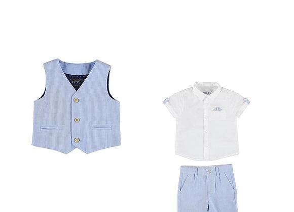 1341/1252 Three-Piece Shirt, Waistcoat and Shorts Set