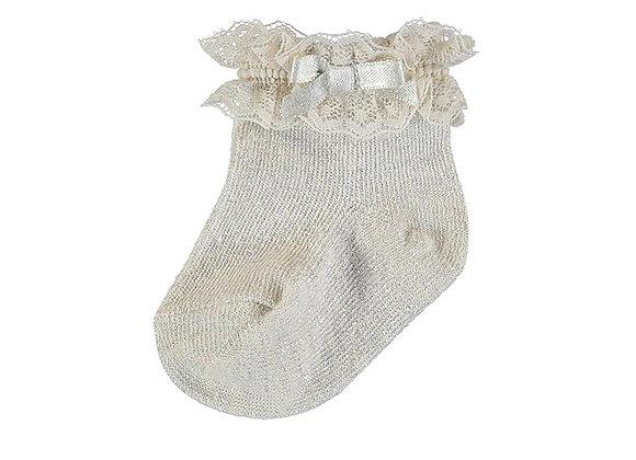 Mayoral Gold Sparkle Socks