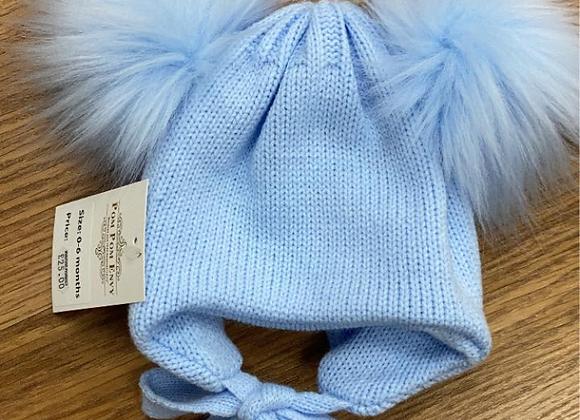 PomPom Envy Blue Hat