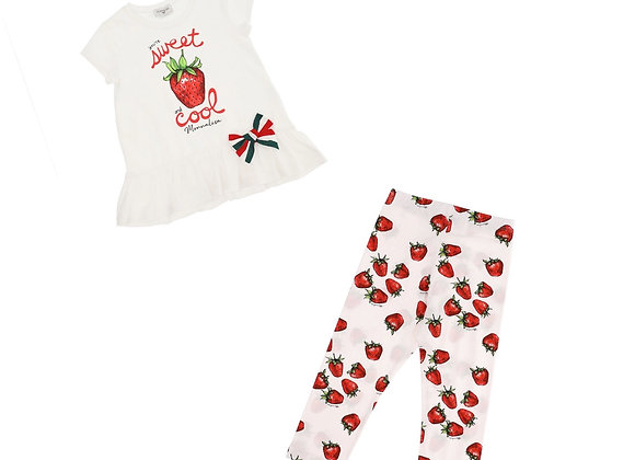 Monnalisa Strawberry Legging Set