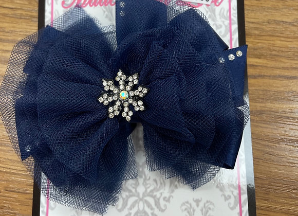 Large Navy Bow