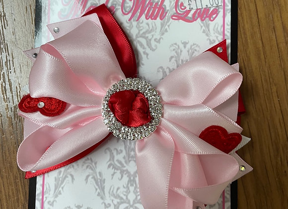Large Red and Pink Bow