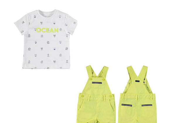 1663/1008 Dungarees & T-Shirt Set