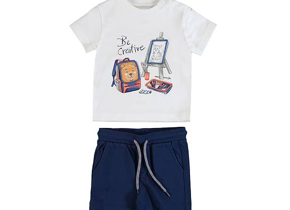1671 Two-Piece Be Creative Shorts & T-Shirt Set