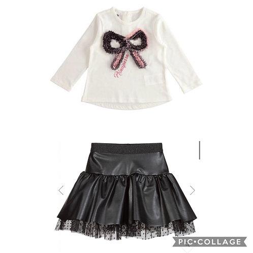 IDo Bow Skirt Set