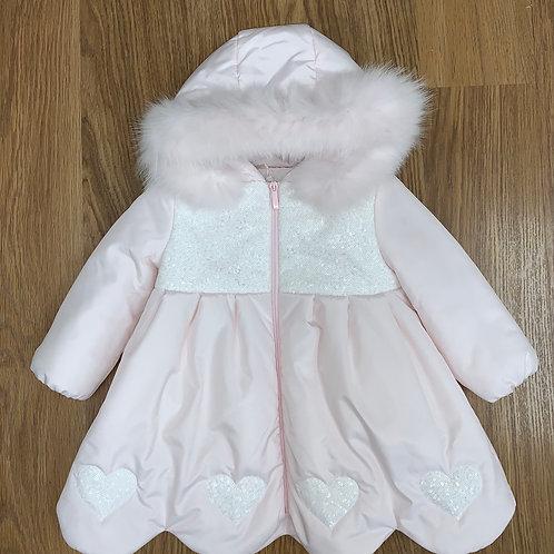 Bimbalò Pink Hearts Coat