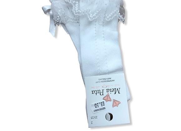 Meia Pata White long Socks